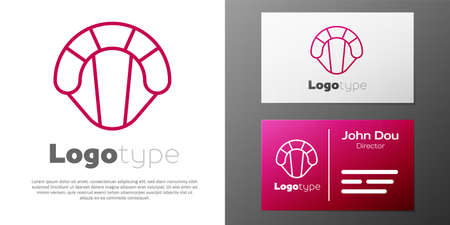 Logotype line Parachute icon isolated on white background. Extreme sport. Sport equipment.