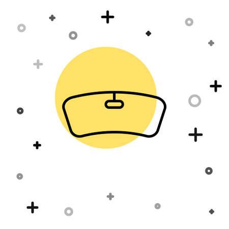 Black line Windshield icon isolated on white background. Random dynamic shapes. Vector Illustration Ilustração