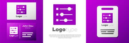 Logotype Car settings icon isolated on white background. Auto mechanic service. Repair service auto mechanic. Maintenance sign. Logo design template element. Vector Illustration Illustration