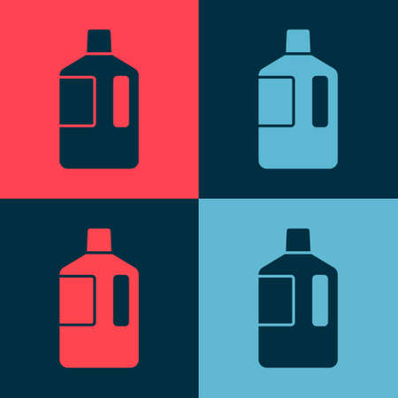 Pop art Big bottle with clean water icon isolated on color background. Plastic container for the cooler. Vector Illustration