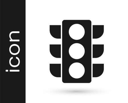 Grey Traffic light icon isolated on white background. Vector Illustration