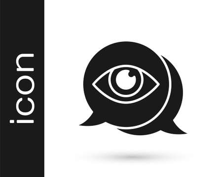 Black Eye scan icon isolated on white background. Scanning eye. Security check symbol. Cyber eye sign. Vector