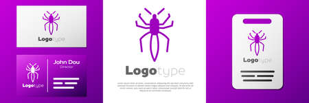Logotype Spider icon isolated on white background. Happy Halloween party.