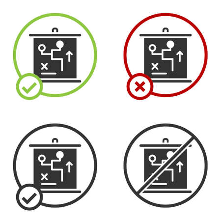 Black Planning strategy concept icon isolated on white background. Cup formation and tactic. Circle button. Vector.