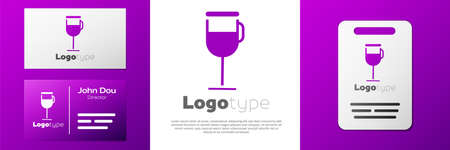 Logotype Irish coffee icon isolated on white background. Logo design template element. Vector Illustration.