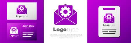 Logotype Envelope setting icon isolated on white background.