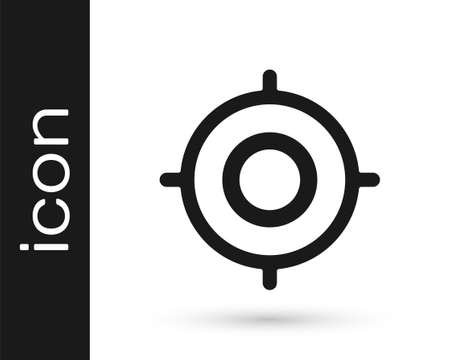 Grey Target sport icon isolated on white background. Clean target with numbers for shooting range or shooting. Vector Illustration.