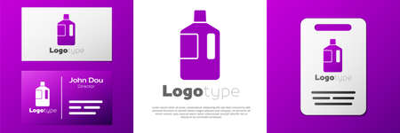 Logotype Big bottle with clean water icon isolated on white background. Plastic container for the cooler.