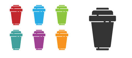 Black Water filter cartridge icon isolated on white background. Set icons colorful. Vector Illustration.