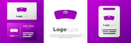 Logotype Windshield icon isolated on white background. Logo design template element. Vector Illustration 矢量图像