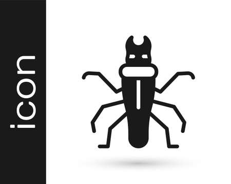 Black Termite icon isolated on white background. Vector