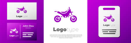 Logotype Mountain bike icon isolated on white background.