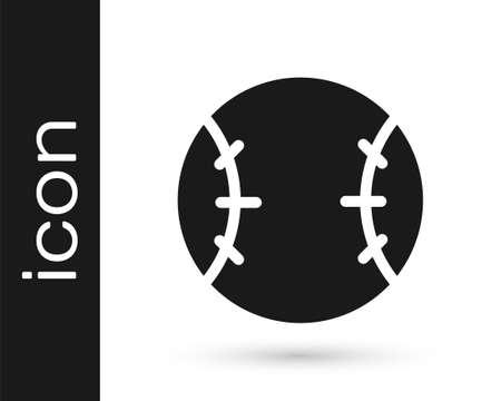 Grey Baseball ball icon isolated on white background. Vector Illustration Illustration