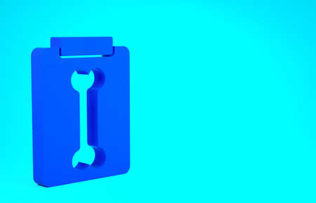 Blue X-ray shots icon isolated on blue background. Minimalism concept. 3d illustration 3D render