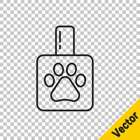 Black line Pet shampoo icon isolated on transparent background. Pets care sign. Dog cleaning symbol. Vector Illusztráció