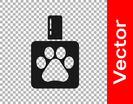 Black Pet shampoo icon isolated on transparent background. Pets care sign. Dog cleaning symbol. Vector Ilustración de vector