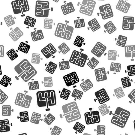 Black Gear shifter icon isolated seamless pattern on white background. Transmission icon. Vector Illustration Vector Illustration