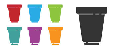 Black Water filter cartridge icon isolated on white background. Set icons colorful. Vector Illustration