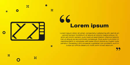 Black Gps device with map icon isolated on yellow background. Vector Illustration