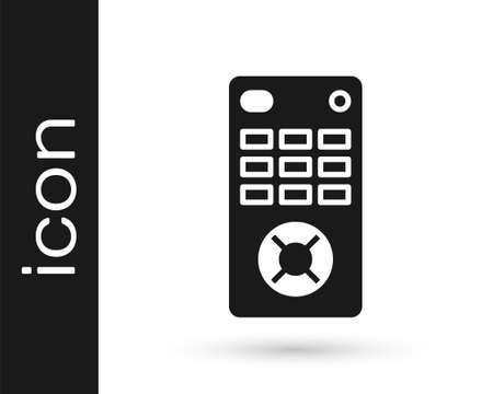 Grey Remote control icon isolated on white background. Vector Illustration