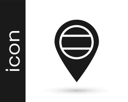 Black Location Russia icon isolated on white background. Navigation, pointer, location, map, gps, direction, place, compass, search concept. Vector