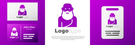 Logotype Socrates icon isolated on white background. Sokrat ancient greek Athens ancient philosophy. Çizim