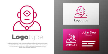 Logotype line Cyclops icon isolated on white background.
