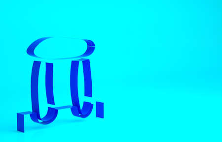 Blue Stonehenge icon isolated on blue background. Minimalism concept. 3d illustration 3D render