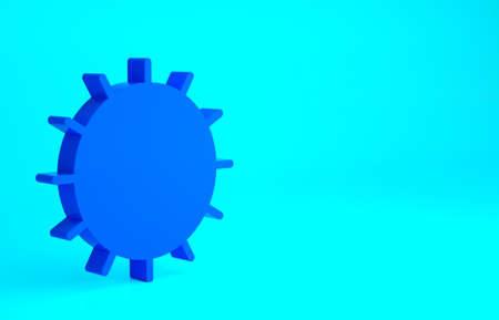 Blue Sun icon isolated on blue background. Summer symbol. Good sunny day. Minimalism concept. 3d illustration 3D render 免版税图像