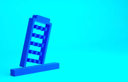 Blue Leaning Tower in Pisa icon isolated on blue background. Italy symbol. Minimalism concept. 3d illustration 3D render