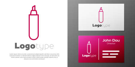 Logotype line Marker pen icon isolated on white background.