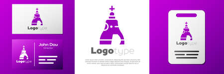 Logotype The Tsar bell in Moscow monument icon isolated on white background.