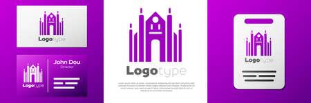 Logotype Milan Cathedral or Duomo di Milano icon isolated on white background. Famous landmark of Milan, Italy.