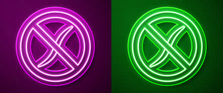 Glowing neon line Anti worms parasite icon isolated on purple and green background. Vector Illustration