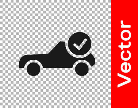 Black Auto service check automotive icon isolated on transparent background. Car service. Vector Illustration Ilustrace