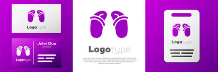 Flip flops icon isolated on white background. Beach slippers sign. design template element. Vector