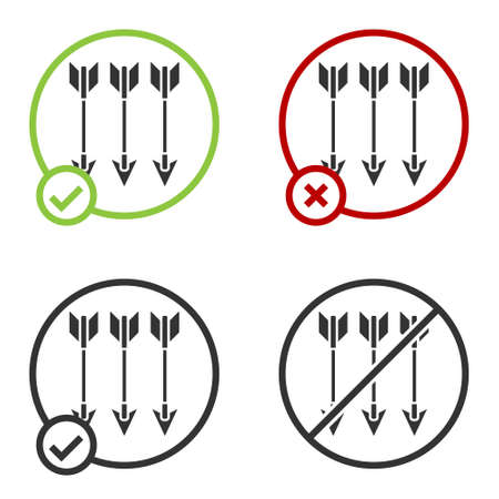 Black Crossed arrows icon isolated on white background. Circle button. Vector