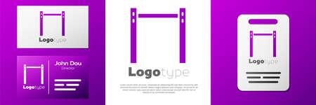 Logotype Sport horizontal bar icon isolated on white background. Ilustração