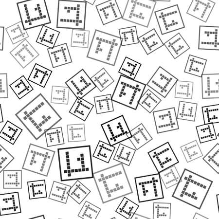 Black Bingo icon isolated seamless pattern on white background. Lottery tickets for american bingo game. Vector