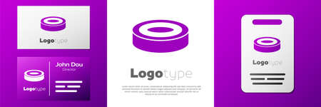 Logotype Checker game chips icon isolated on white background.