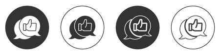 Black Consumer or customer product rating icon isolated on white background. Circle button. Vector Vektoros illusztráció