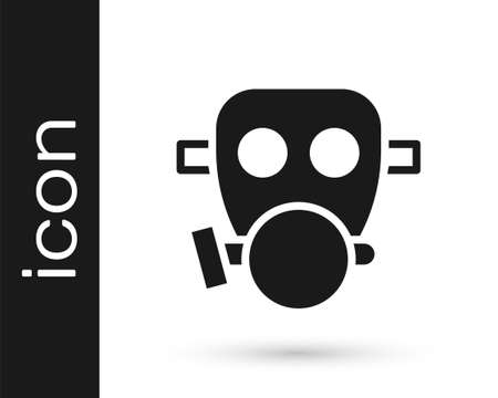 Black Gas mask icon isolated on white background. Respirator sign. Vector