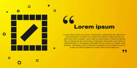 Black Board game icon isolated on yellow background. Vector 向量圖像