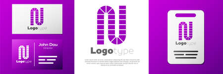 Logotype Board game icon isolated on white background. Logo design template element. Vector 向量圖像