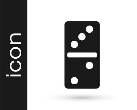 Black Domino icon isolated on white background. Vector