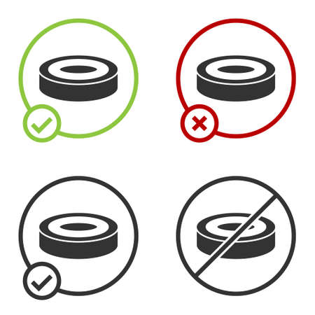Black Checker game chips icon isolated on white background. Circle button. Vector