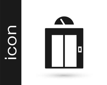 Black Lift icon isolated on white background. Elevator symbol. Vector