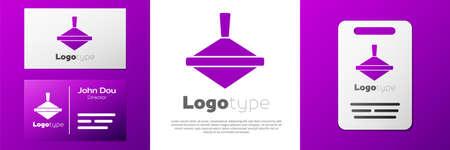 Logotype Whirligig toy icon isolated on white background. Logo design template element. Vector Vettoriali