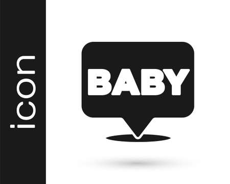 Black Baby icon isolated on white background. Vector