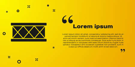 Black Drum icon isolated on yellow background. Music sign. Musical instrument symbol. Vector